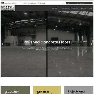 Polished Concrete Floors - Concrete Floor Polishing - BECOSAN®