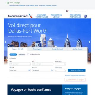 American Airlines - Billets d`avion et réservations en ligne