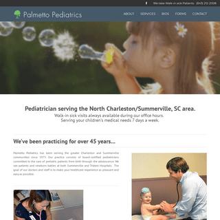 Licensed Pediatrician North Charleston, SC - Childrens Flu Shots - Newborn & Walk-In Pediatrician Summerville, South Carolina (S