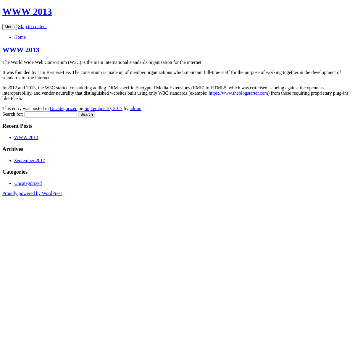 A complete backup of https://www2013.org