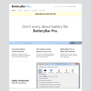 BatteryBar Pro- Windows Battery Life Tracker