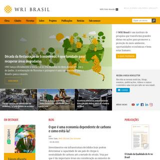 WRI Brasil - Realizando Grandes Ideias