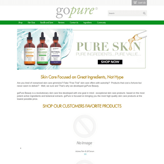 Pure Skin Care Products - goPure Beauty