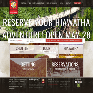 The Route of the Hiawatha Scenic Bike Trail (Official Website)