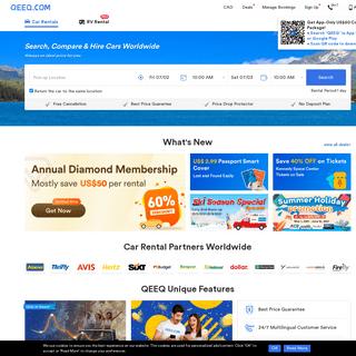 Car Rentals Worldwide & Travel Discount - QEEQ.COM