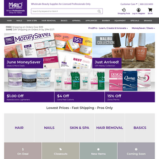 Wholesale Salon Supplies for Professionals - Marlo Beauty Supply