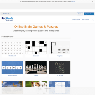 Create or Play Brain Games & Online Puzzles- ProProfs