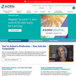 Association of periOperative Registered Nurses - AORN