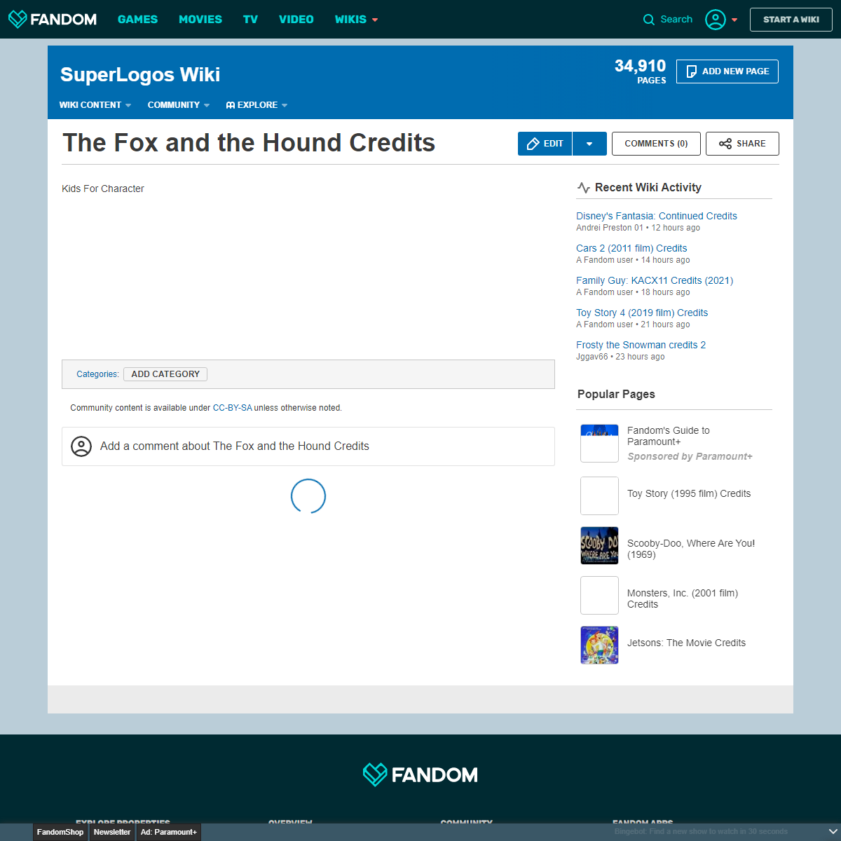 The Fox and the Hound Credits - SuperLogos Wiki - Fandom