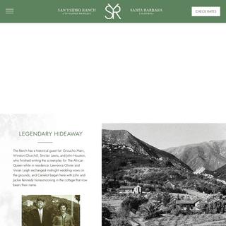 Santa Barbara Resorts - Official Website - San Ysidro Ranch