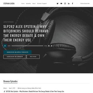 Stephan Livera – Bitcoin Podcast