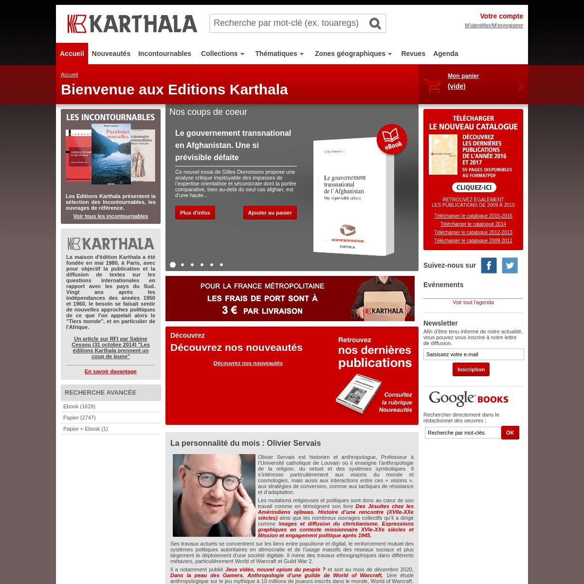 A complete backup of https://karthala.com