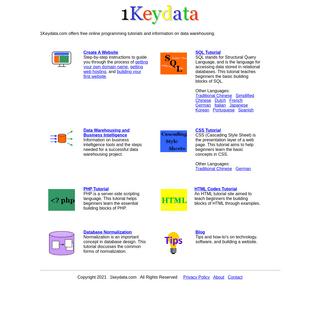 1Keydata - Free Online Programming Tutorials