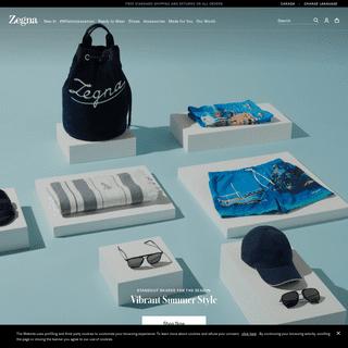 Ermenegildo Zegna menswear- official website and online store
