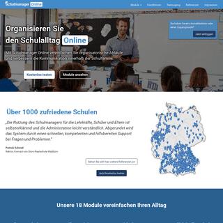 Schulmanager Online- Web-Plattform für die Schulorganisation