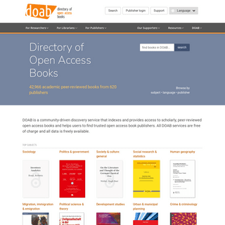 Online Library and Publication Platform - Directory of Open Access Books