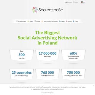 Społeczności - Społecznościowa sieć reklamowa