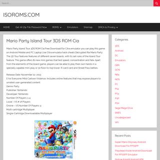 Mario Party Island Tour 3DS ROM Cia – ISOROMS.COM