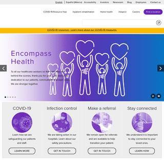 Inpatient Rehabilitation, Home Health & Hospice - Encompass Health