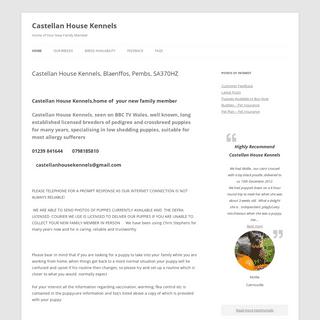 Castellan House Kennels, Blaenffos, Pembs, SA370HZ - Castellan House Kennels
