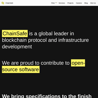 ChainSafe Systems - Blockchain Research and Development