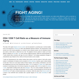 Fight Aging! – The science of rejuvenation biotechnology. Advocacy for longer, healthier lives.