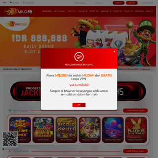 MILO88- Situs Judi Online Resmi #1 di Indonesia - Slot - Poker - Gaple - Live Casino