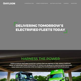 Hyliion- Class 8 Tractor Trailer Electrification.
