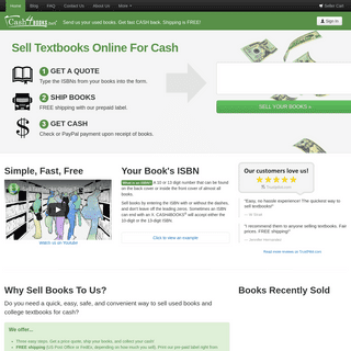 Sell Textbooks For Cash - Sell Used Books - Cash4Books