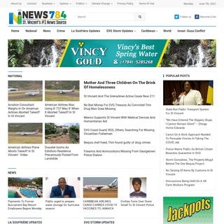 NEWS784 – St Vincent`s #1 News Source