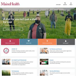 MaineHealth Home Page - MaineHealth