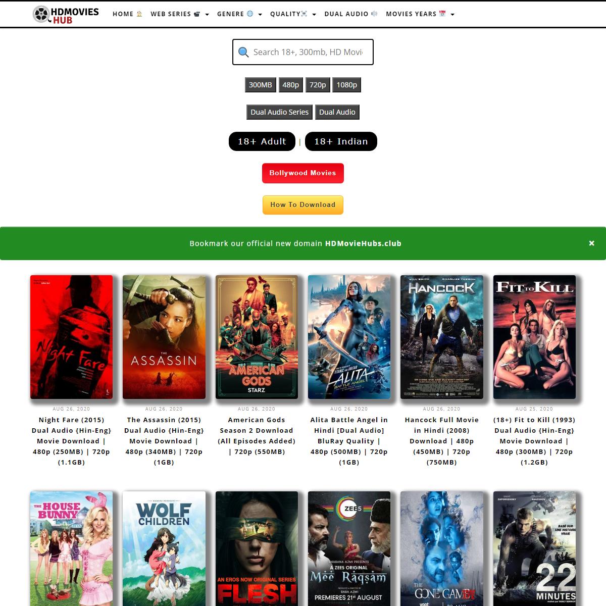 HdMoviesHub - 300mb Movies, 720p Movies, Hindi Dubbed Series, 1080p Movies, 480p Movies, 500mb Movies, 900mb Movies, Tv series,