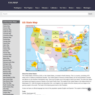A complete backup of https://usa-map.co