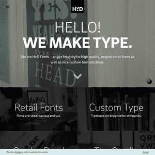 Home - HvD Fonts
