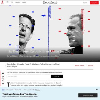 The Bush-Gore Florida Recount- An Oral History - The Atlantic