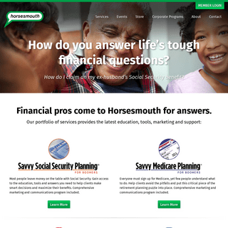 Horsesmouth - Helping advisors succeed - Public