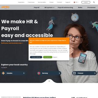 Smart Human Resource Management and payroll - Aditro