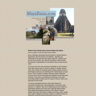 Maya Ruins of Central America - Archaeology & Architecture