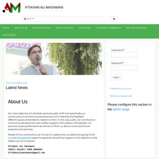 About Us - Iftikhar Ali Mashwani