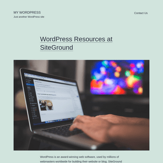 My WordPress - Just another WordPress site