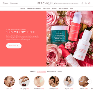 Korean Skin Care and K-Beauty Products - Peach & Lily