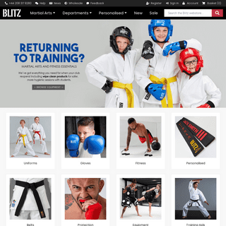 Blitz - The UK`s Leading Martial Arts Equipment Supplier