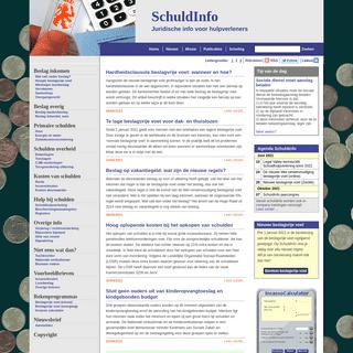 SchuldInfo.nl- Juridische info voor hulpverleners