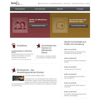 SERVICE.BUND.DE - Stellenangebote, Ausschreibungen, Behördenverzeichnis, Leistungen des Bundes - Verwaltung Online