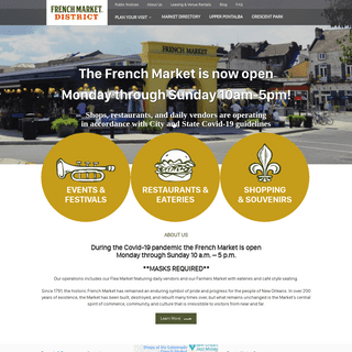 French Market District – French Market Corporation