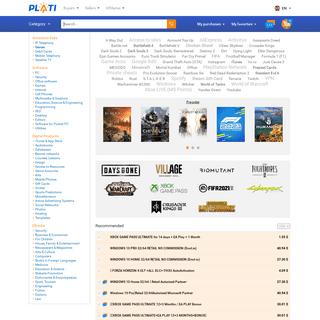 Plati.Market. Digital goods marketplace.