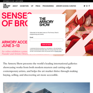 The Armory Show - Welcome