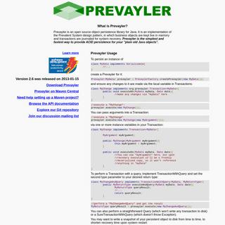 A complete backup of https://prevayler.org