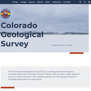 Colorado Geological Survey - Colorado Geological Survey