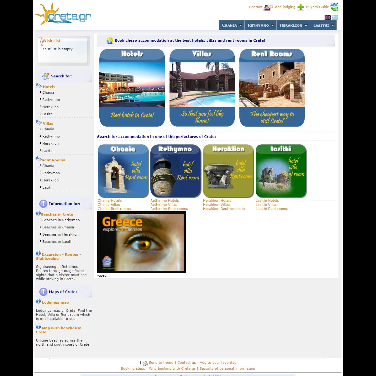 Crete - Official Site